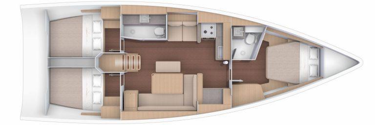 Dufour 430 rooms