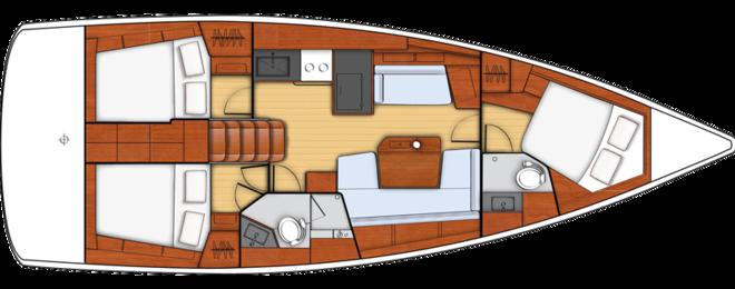 Oceanis 41.1 layout