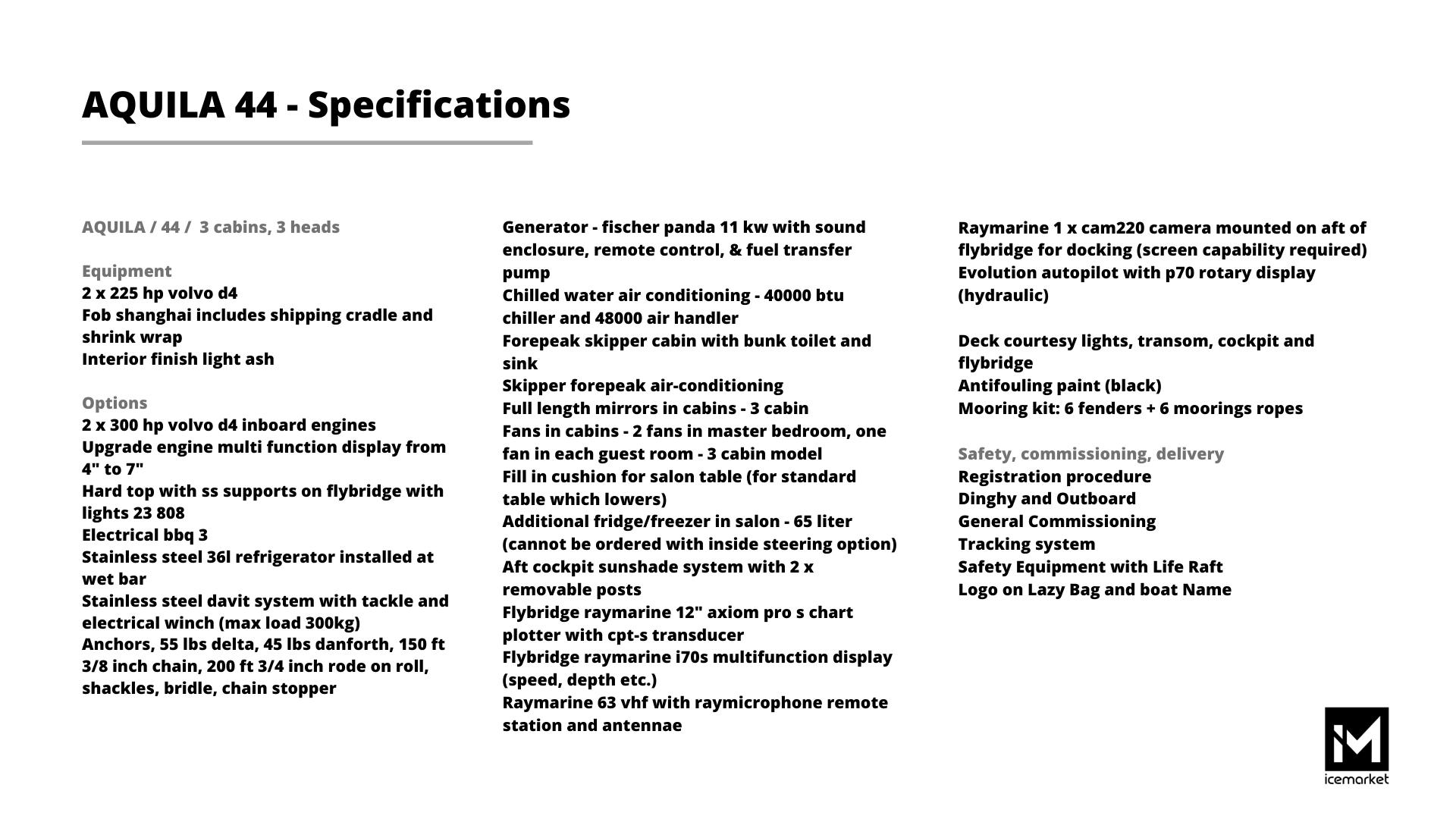 A44-Specifikacije