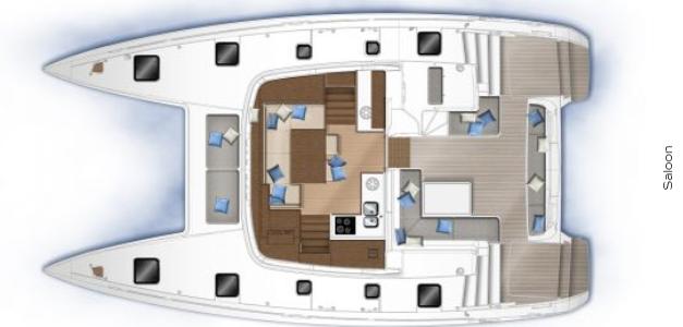 Lagoon 46 layout
